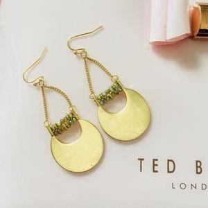 Jewelry - NEW Gold Matte Half Moon Dangle Earrings